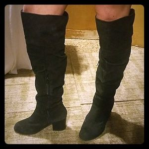 Apt 9 Black Over-the-Knee Slouch Boots